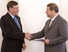 New UN Resident Coordinator, UNDP Resident Representative Antonius Broek presented his credentials to the Prime Minister of Belarus Sergei Sidorsky