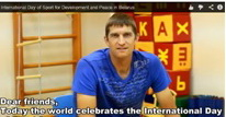 Maxim Mirnyi lends his support to the International Day of Sport for Development and Peace